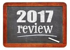 het overzicht van 2017 op bord Stock Foto's