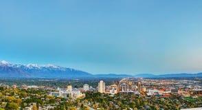 Het overzicht van Salt Lake City Stock Afbeeldingen