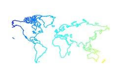 Het overzichtskaart van de wereld royalty-vrije illustratie