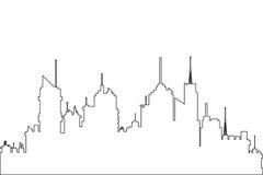 het overzichtspictogram van de stadshorizon Royalty-vrije Stock Foto