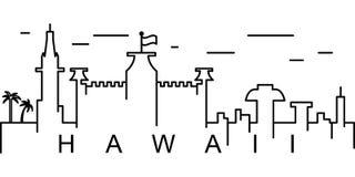 Het overzichtspictogram van Hawaï Kan voor Web, embleem, mobiele toepassing, UI, UX worden gebruikt royalty-vrije illustratie