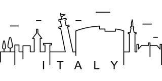 Het overzichtspictogram van Italië Kan voor Web, embleem, mobiele toepassing, UI, UX worden gebruikt stock illustratie