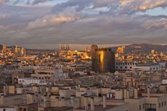 Het overzien van Barcelona royalty-vrije stock foto's