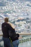 Het overzien van Bergen, Noorwegen Royalty-vrije Stock Afbeeldingen