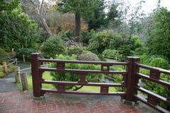 Het overzien van de Japanse Tuinen van de Thee Royalty-vrije Stock Afbeeldingen