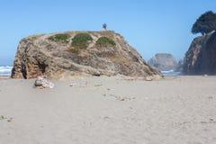 Het overzien van de kustlijn stock fotografie
