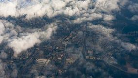 Het overzien van de stad van Zhuhai, China stock afbeeldingen