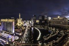 Het overzien van de strook van Las Vegas in Nevada stock fotografie
