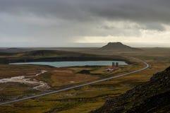 Het overzien van Geothermisch Gebied in IJsland royalty-vrije stock foto's