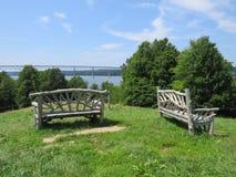 Het overzien van Hudson River Stock Foto's