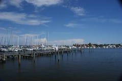 Het overzien van Jachthaven op Marco Eiland, Florida Royalty-vrije Stock Fotografie