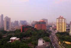 Het overzien xiamen stad bij dageraad Royalty-vrije Stock Foto