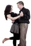 Het paar danst Stock Foto's