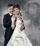 Het paar, de bruid en de bruidegom van het huwelijk Royalty-vrije Stock Foto's