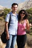Het paar doet sightseeing in Athene Stock Afbeeldingen
