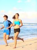 Het paar lopende fitness van de sport Stock Foto's