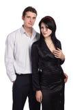 Het paar omhelst geïsoleerdt hartstochts sexy Royalty-vrije Stock Afbeeldingen