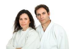 Het paar van Aikido Stock Fotografie