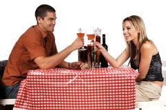Het Paar van Bistro Stock Foto
