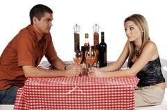 Het Paar van Bistro Stock Afbeelding