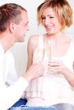 Het paar van Champagne Stock Fotografie