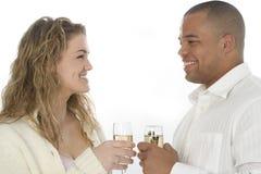 Het Paar van Champagne stock afbeelding