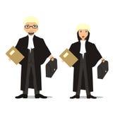 Het paar van de advocaat Stock Illustratie