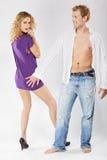 Het paar van de blonde Royalty-vrije Stock Foto