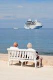 Het Paar van de cruise Stock Foto's