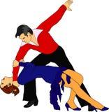Het paar van de dans Stock Afbeeldingen