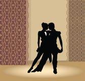 Het paar van de dans in tangohartstocht Stock Fotografie