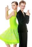 Het paar van de de jeugddans Stock Afbeelding