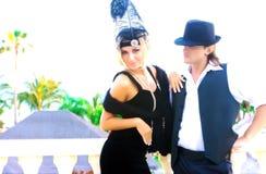 Het paar van de gangster Royalty-vrije Stock Foto's