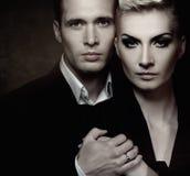 Het paar van de glamour Royalty-vrije Stock Afbeelding
