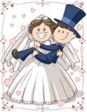 Het Paar van de huwelijksuitnodiging Stock Foto's