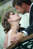 Het paar van de jonggehuwde in liefde Royalty-vrije Stock Fotografie