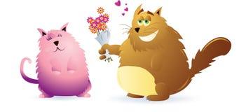 Het paar van de kat stock illustratie
