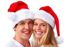 Het paar van de Kerstmiskerstman Stock Afbeeldingen