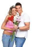 Het paar van de liefde Stock Foto's