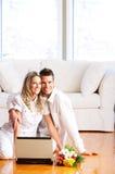 Het paar van de liefde Stock Foto