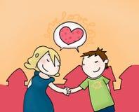 Het paar van de liefde Stock Illustratie