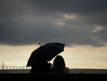 Het Paar van de paraplu Stock Foto's