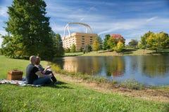 Het Paar van de picknickmand Royalty-vrije Stock Foto