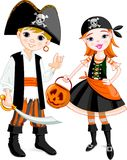 Het paar van de piraat Stock Foto's