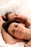 Het paar van de slaap Stock Foto