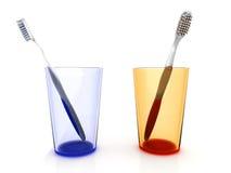 Het Paar van de tandenborstel Royalty-vrije Stock Afbeeldingen
