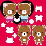 Het paar van de teddybeer Royalty-vrije Stock Afbeelding