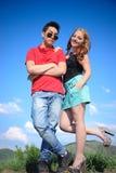 Het paar van de tiener Stock Foto