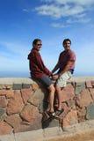Het paar van de top Stock Foto