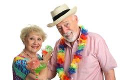 Het Paar van de vakantie met Cocktails Royalty-vrije Stock Afbeelding